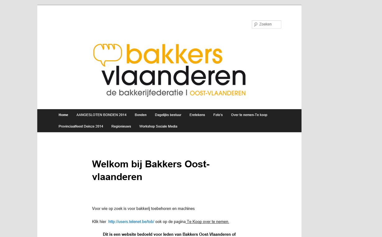 Bakkers Oost-Vlaanderen